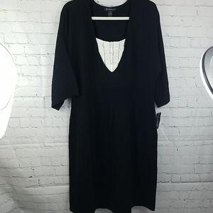 NWT INC Woven Black Dress Women 2X